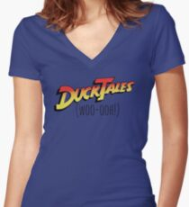 DuckTales Woo-ooh Women's Fitted V-Neck T-Shirt