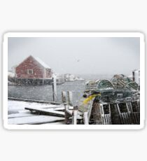 Peggy's cove in January Sticker