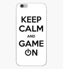 Keep calm and game on. iPhone Case