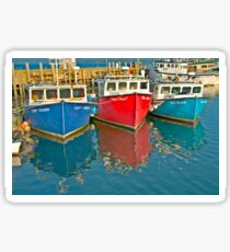 Scallop fishing boats Sticker