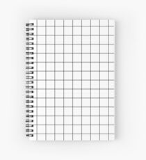 Graph Paper Grid Black Lines On White Spiral Notebook