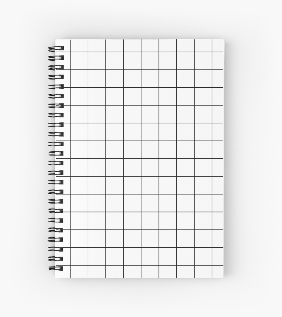 u0026quot graph paper grid black lines on white u0026quot  spiral notebook by