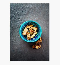 Dried Galangal Root in Authentic Oriental Bowl Photographic Print