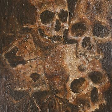 Four Skulls by Paul Woods Copyright 2014  by perrylane