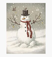 Christmas Snowman Photographic Print