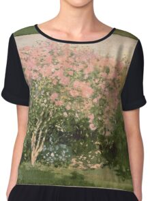 Lilac  Flowers -  Claude Monet - Lilac In The Sun 1873 Impressionism Chiffon Top