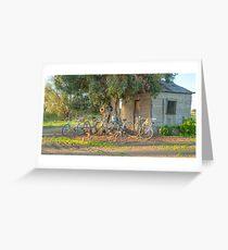 Family Bike Ride..... Greeting Card