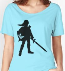 The Legend of Zelda Link Silhouette Women's Relaxed Fit T-Shirt