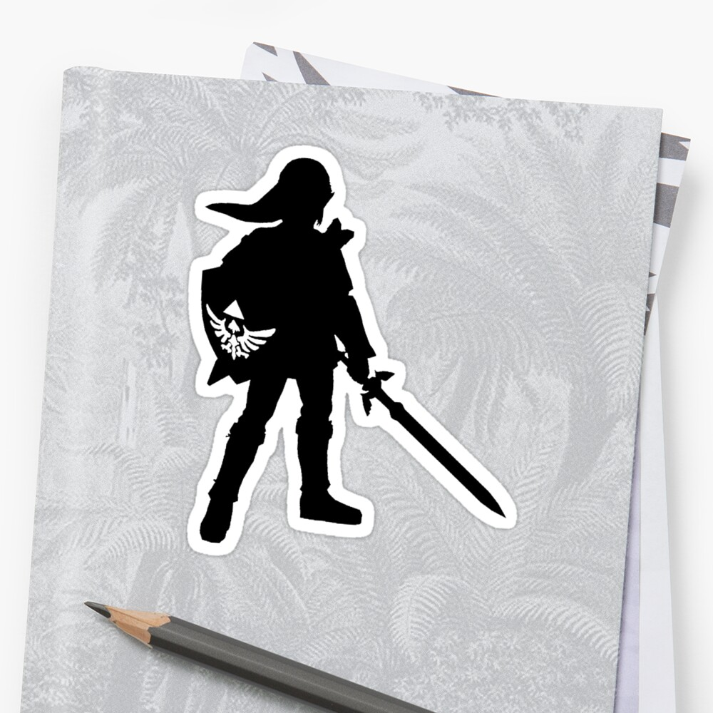 Quot The Legend Of Zelda Link Silhouette Quot Sticker By Surfking