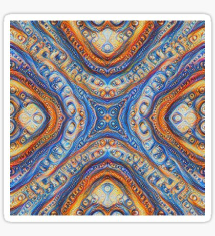 Demicircles #DeepDream Sticker