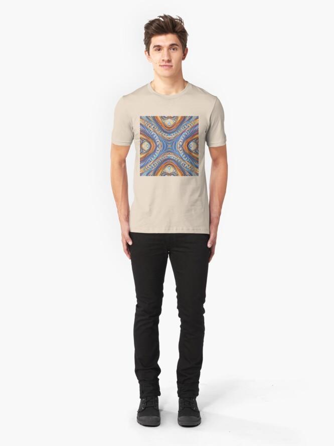 Alternate view of Demicircles #DeepDream Slim Fit T-Shirt
