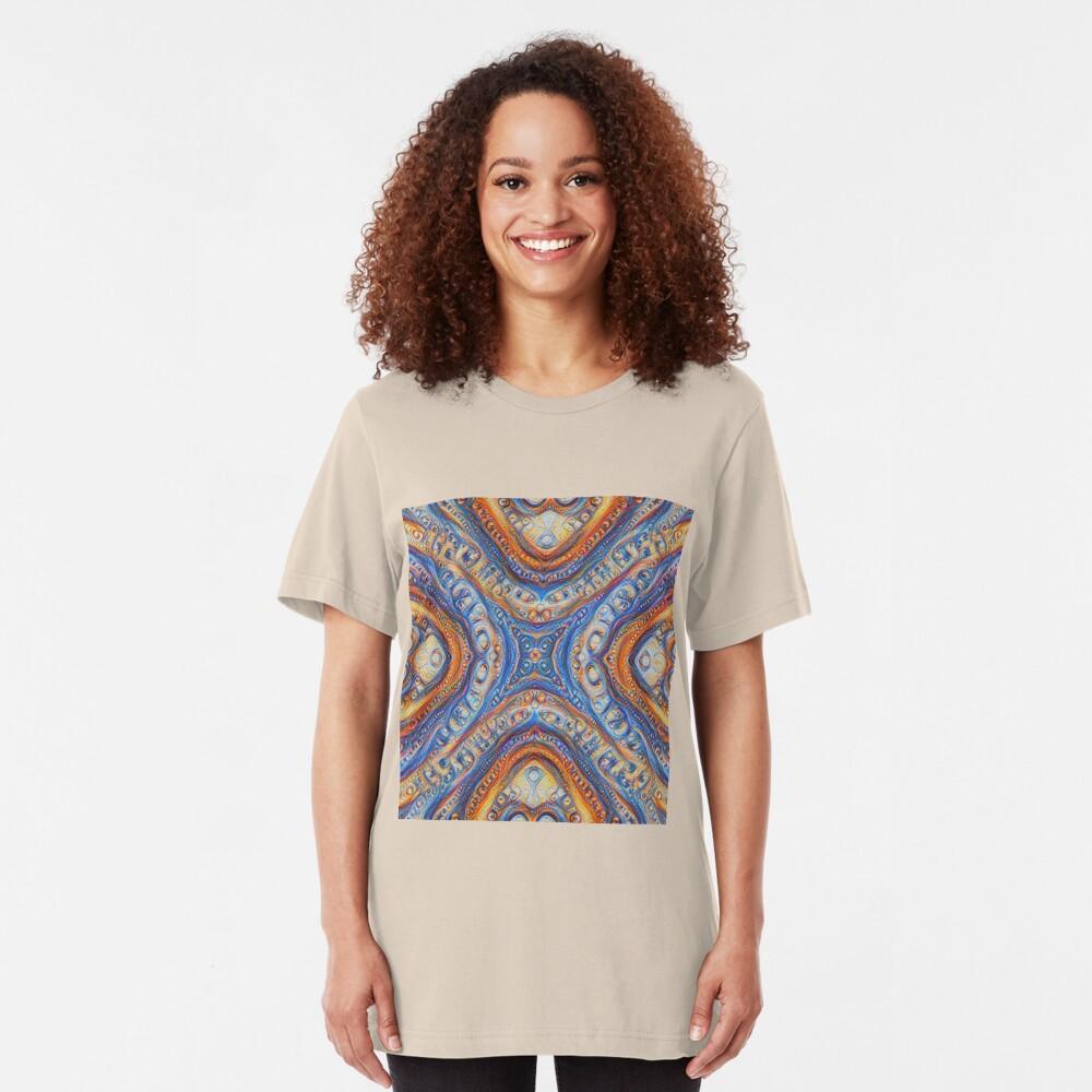 Demicircles #DeepDream Slim Fit T-Shirt