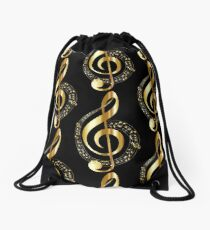 music notes Drawstring Bag