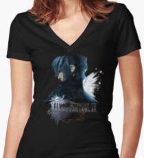 Noctis (Final Fantasy XV) version 2 Women's Fitted V-Neck T-Shirt