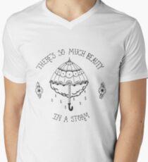 La Dispute Traditionelle Tattoo Regenschirm T-Shirt mit V-Ausschnitt