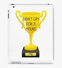 Didn't Cry Trophy iPad Case/Skin
