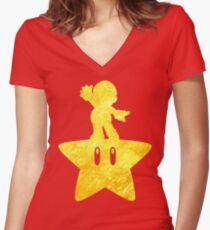 Camiseta entallada de cuello en V Musical