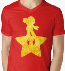 Camiseta de cuello en V Musical