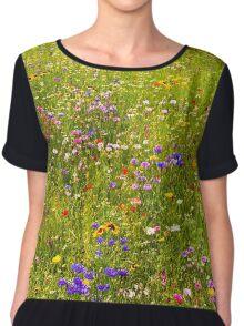 A field of wild flowers Chiffon Top