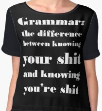 Grammar: The Difference Between Your and You're Chiffon Top