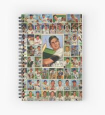Baseball Card 52 Dreams Spiral Notebook