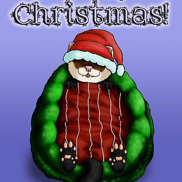 Christmas Ferret by Fennic