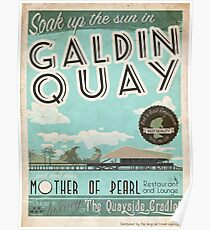Visit Beautiful Galdin Quay! Poster