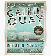 Visit Beautiful Galdin Quay! Poster