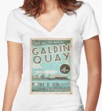 Besuchen Sie den schönen Galdin Quay! Shirt mit V-Ausschnitt
