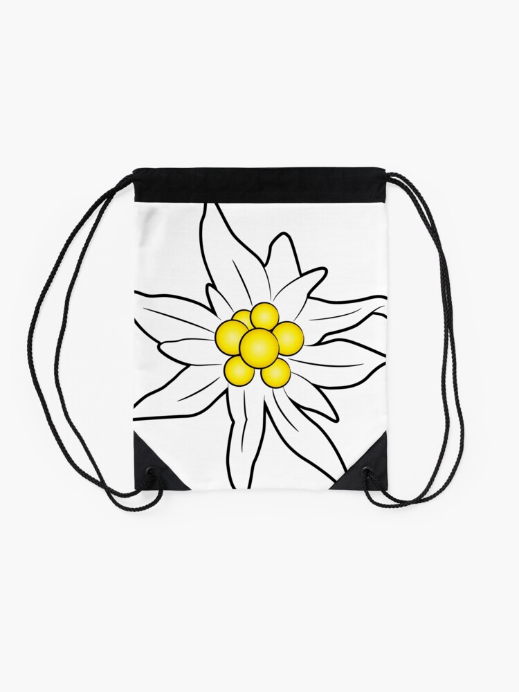 Alternate view of Edelweiss flower Drawstring Bag