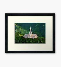 Bountiful Utah Temple - Summer Sunset 30x20 Framed Print