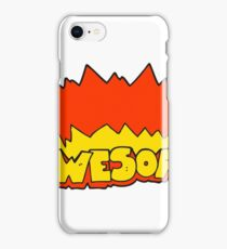 awesome cartoon symbol iPhone Case/Skin