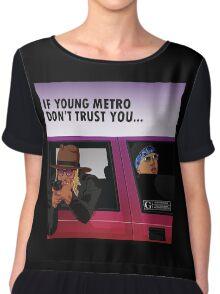 if young metro Chiffon Top