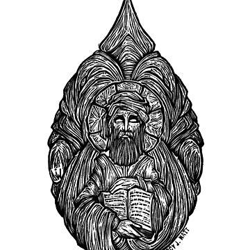 """""""Tertullian"""" Woodcut by darcyjwatt"""