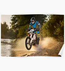 Enduro bike rider Poster