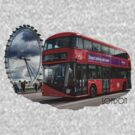 London Red Bus by flashcompact