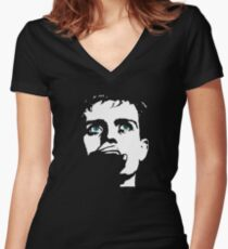 Ian Curtis, touching from a distance Women's Fitted V-Neck T-Shirt