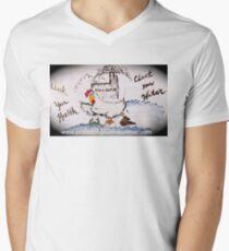 Don't Let Harim Cluck your Health Men's V-Neck T-Shirt