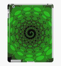 complex green spiral iPad Case/Skin