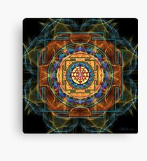 The Sri Yantra - Sacred Geometry Canvas Print