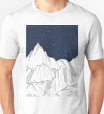 The white mountains under the stars Unisex T-Shirt