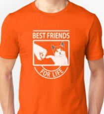 Cat Best Friends For Life  Unisex T-Shirt