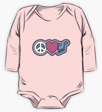 PEACE LOVE MUSIC Symbols One Piece - Long Sleeve