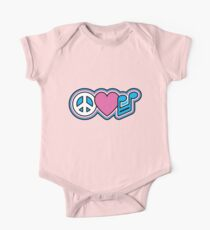 PEACE LOVE MUSIC Symbols One Piece - Short Sleeve