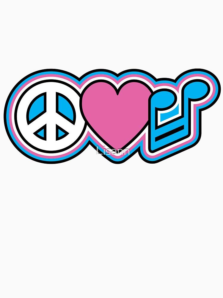 PEACE LOVE MUSIC Symbols by Lisann