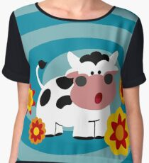 Psychedelic Cow Women's Chiffon Top
