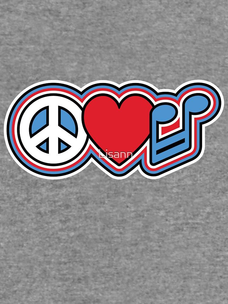 Peace Love Music Symbols Lightweight Hoodie By Lisann Redbubble