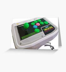Arcade Sega Stick Greeting Card