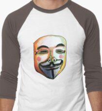Guy Fawkes Camiseta ¾ bicolor para hombre