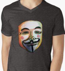Guy Fawkes Camiseta para hombre de cuello en v